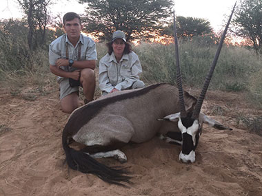 Hunting Gemsbuck in South Africa with Select Worldwide Hunting Safaris