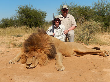 Hunting a Male African Lion in South Africa with Select Worldwide Hunting Safaris